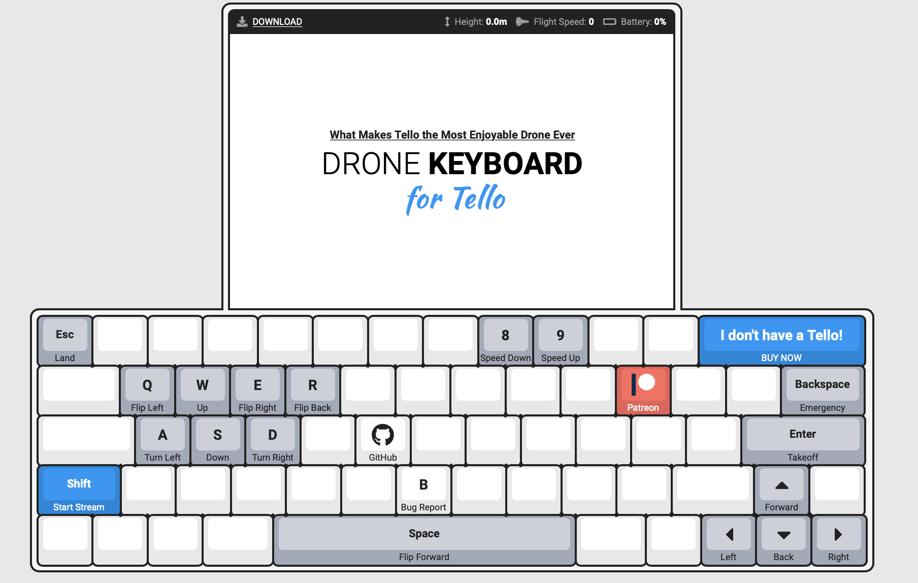 Control your Tello directly from MacOS Keyboard + video