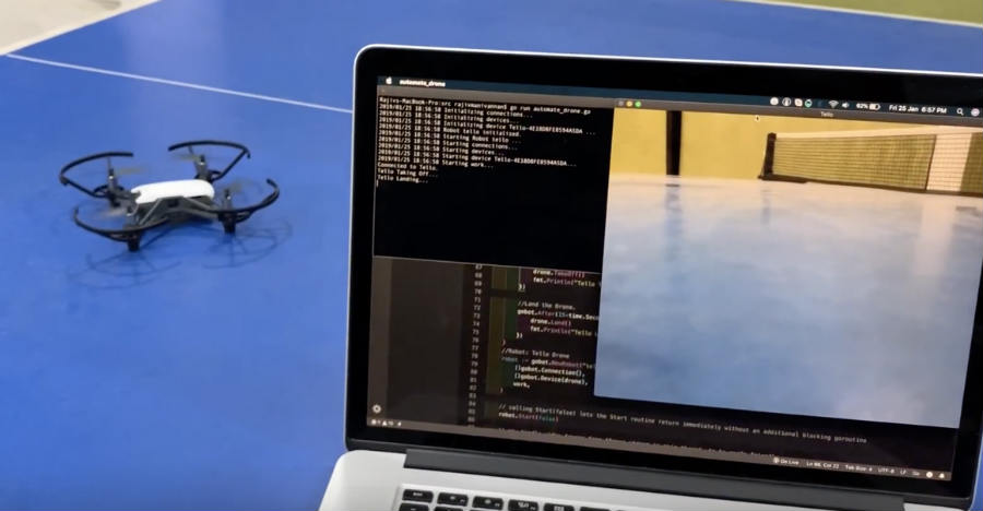 Automating and programming DJI Tello Drone using GOBOT