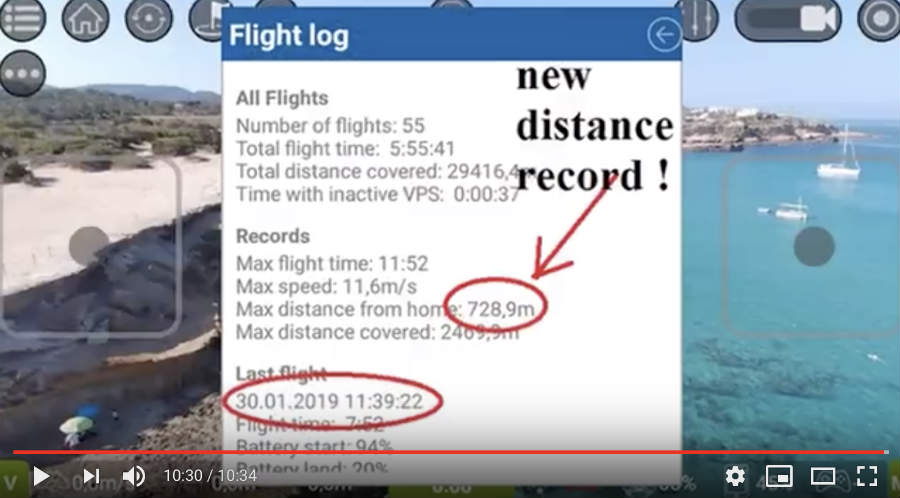 Tello Fly Range Record was set - 782m from receiver !
