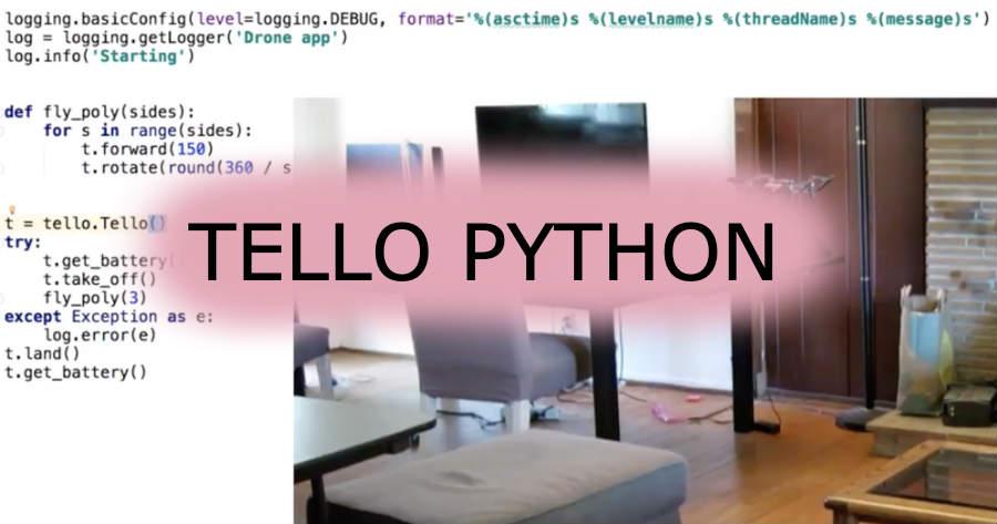 Example of Python Code for Tello Flight along Triangular Path