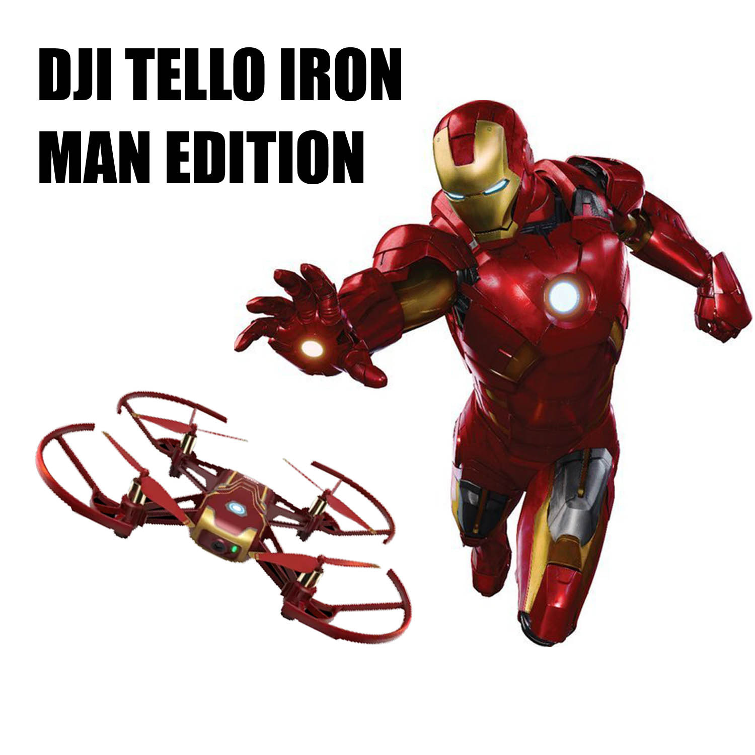DJI Tello Iron Man Edition  The Drone in Marvel Style