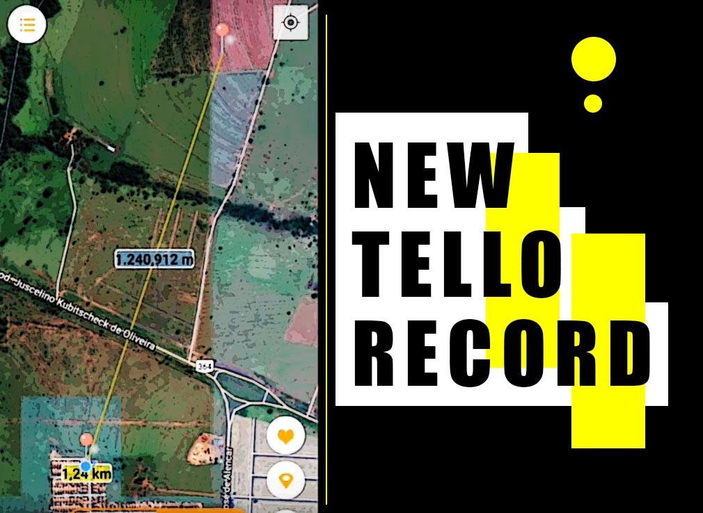 Tello new range record - 1 24 km - Dji Ryze Tello Fun Blog